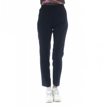 Pantalone donna - J4101 pantalone sigaretta elastico vito 885 - blu