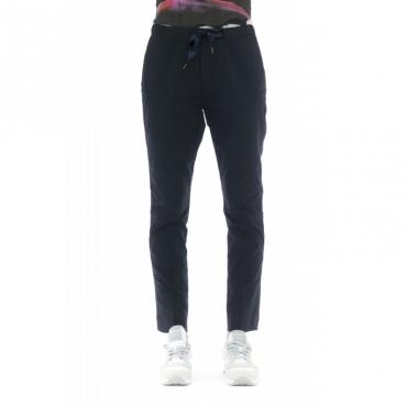 Pantalone donna - Emma 4210 popeline cotone coulisse W1600 - Blu