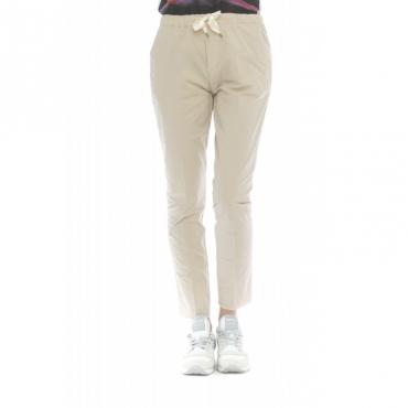 Pantalone donna - Emma 4210 popeline cotone coulisse W2100 - Beige
