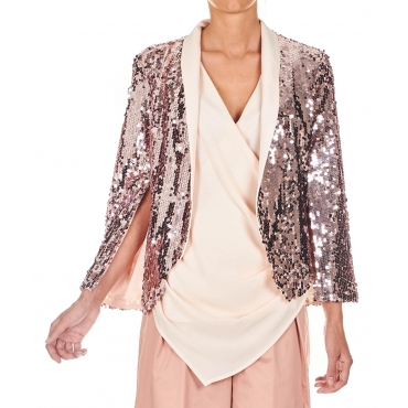 Giacca con paillettes Rose
