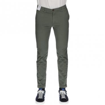 Pantalone sartoriale slim fit VERDE