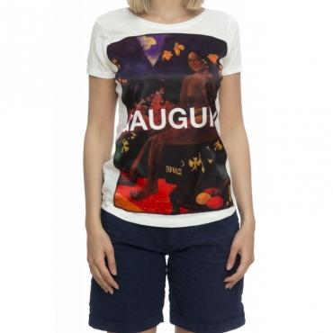T-shirt donna - Savage seta white Gauguin