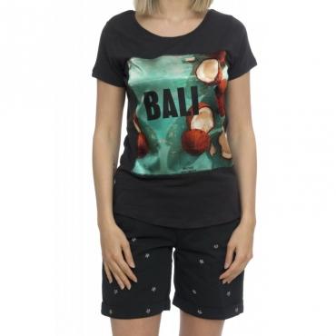 T-shirt donna - Savage seta black Bali