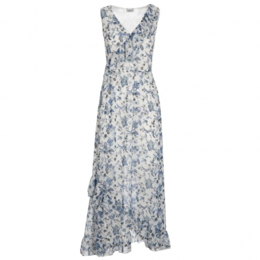 1705eb76c1 Long dress with floral pattern and.