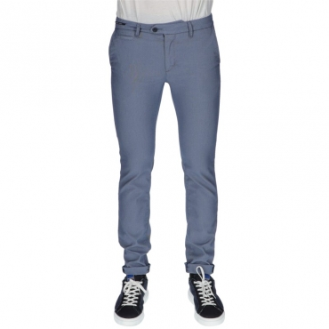 Pantalone slim sartoriale AZZURRO