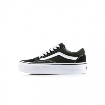 SCARPA BASSA OLD SKOOL PLATFORM BLACK/WHITE