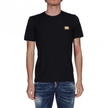 T-shirt girocollo Dolce  Gabbana Blu Scuro