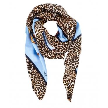 Sciarpa stampata Blue