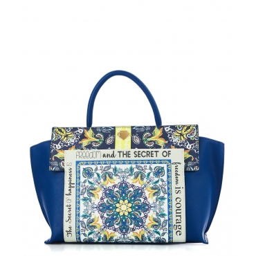 Borsa a mano Happieness Blue