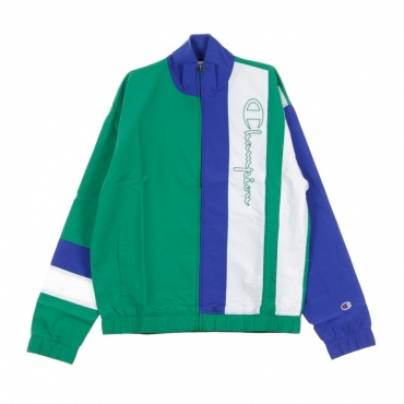 TRACK JACKET FULL ZIP TOP GREEN/BLUE/WHITE