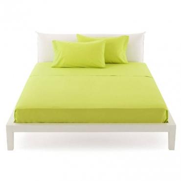 Lenzuolo Singolo  per sopra pantone verde lime cm 160x290 UNICO