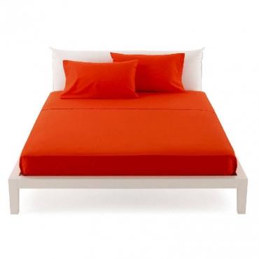 Lenzuolo Singolo  per sopra pantone rosso cm 160x290 UNICO