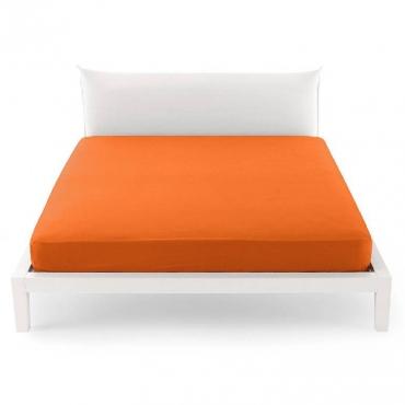 Lenzuolo una Piazza e Mezza per sotto  pantone arancio cm 125x200 UNICO