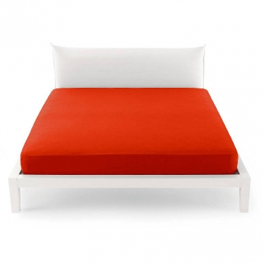 Lenzuolo una Piazza e Mezza per sotto  pantone rosso cm 125x200 UNICO
