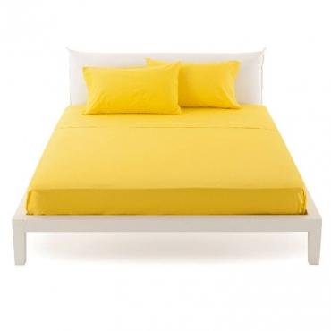 Lenzuolo una Piazza e Mezza per sopra pantone giallo cm 180x290 UNICO
