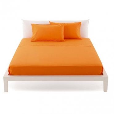Lenzuolo una Piazza e Mezza per sopra pantone arancio cm 180x290 UNICO