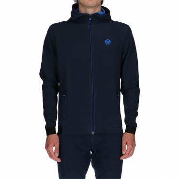 FELPA UOMO NORTH SAILS FULL ZIP E CAPPUCCIO UNICO
