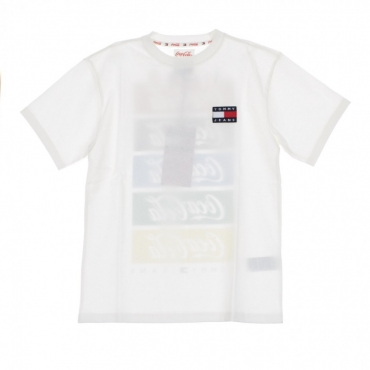 MAGLIETTA TOMMY X COCA COLA REPEAT TEE BRIGHT WHITE