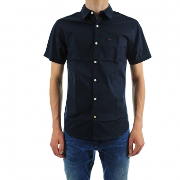 Shirt Uomo Tommy Hilfiger Mezza Manica 416 NAVY BLAZER