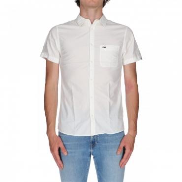 Camicia Tommy Hilfiger Uomo Poplin Strecht 100 CLASSIC WHIT