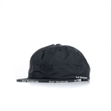 CAPPELLO DESTRUTTURATO MIDTOWN 6 PANEL HAT BLACK