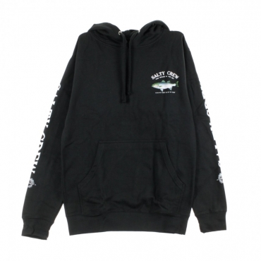FELPA CAPPUCCIO STRIPER HOOD FLEECE BLACK