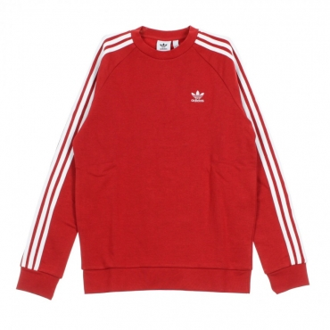 FELPA GIROCOLLO 3-STRIPES CREW POWER RED