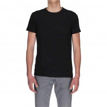 T-SHIRT BASIC STRETCH TASCH TIMEZONE caviar black