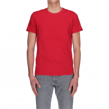 T-SHIRT 3D STAMPA RILIEVO TIMEZONE chilli red