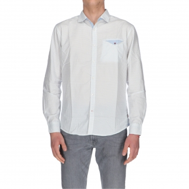 CAMICIA LS SMART CASUAL teardrop white minimal