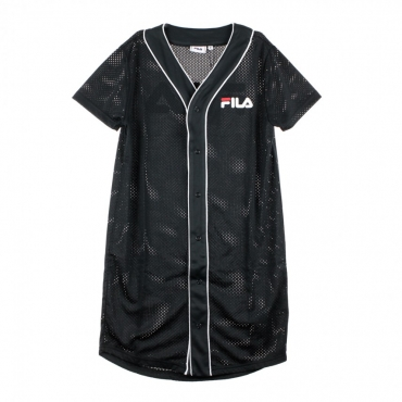 VESTITO ROBIN BUTTON BASEBALL DRESS BLACK