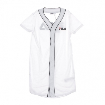 VESTITO ROBIN BUTTON BASEBALL DRESS BRIGHT WHITE