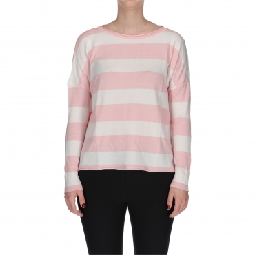 MAGLIA MULTICOLOR rose block stripe