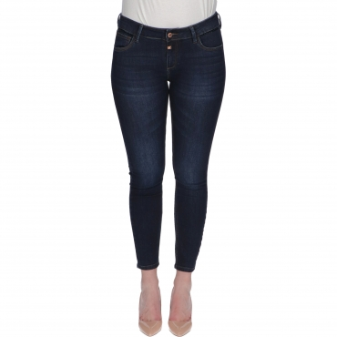 JEANS TIGHT ALEENA W TIMEZONE dark brushed wash