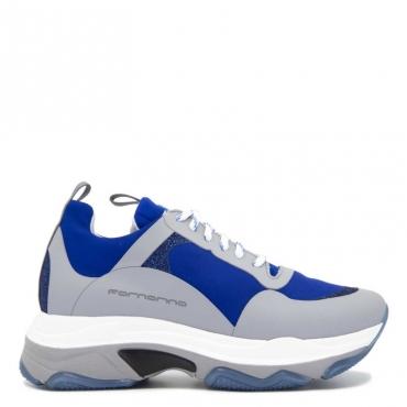 Sneaker Super con glitter BLU