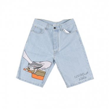PANTALONE CORTO CINDERELLA STORY SHORT LIGHT DENIM