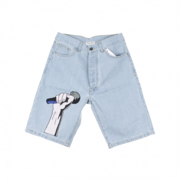 PANTALONE CORTO MICROFONO SHORT LIGHT DENIM