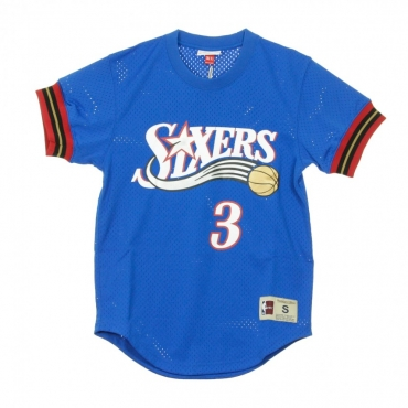 CASACCA NAME  NUMBER MESH CREWNECK ALLEN IVERSON NO3 PHI76E ORIGINAL TEAM COLORS