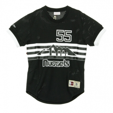CASACCA BLACK  WHITE MESH NAME  NUMBER CREWNECK DICKEMBE MUTOMBO NO55 DENNUG BLACK/WHITE