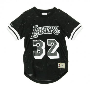CASACCA BLACK  WHITE MESH NAME  NUMBER CREWNECK MAGIC JOHNSON NO32 LOSLAK BLACK/WHITE