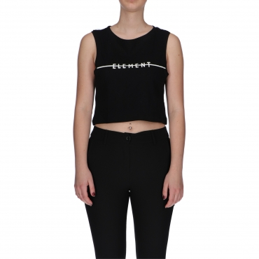 CANOTTA LINE LOGO CROP W ELEMENT BLACK
