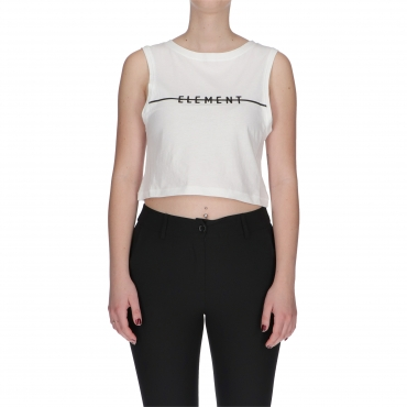 CANOTTA LINE LOGO CROP W ELEMENT WHITE