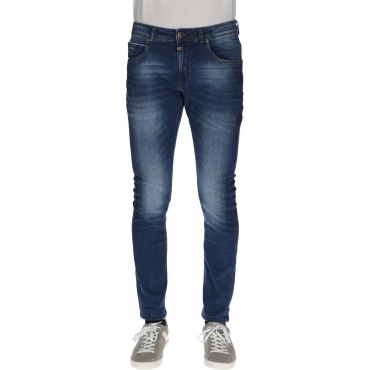 JEANS SLIM SCOTT used bright blue wash