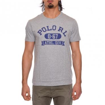 T-shirt con scritta GRIGIO