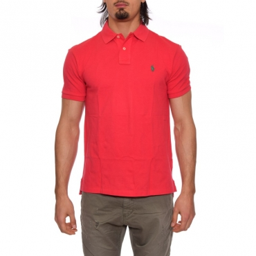 Polo slim fit ROSSO