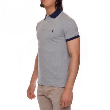 T-shirt colletto GRIGIO