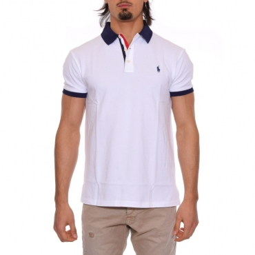 T-shirt colletto BIANCO