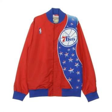 GIUBBOTTO GIACCA A VENTO NBA AUTHENTIC WARM UP JACKETS 1993-94 PHI76E ORIGINAL TEAM COLORS