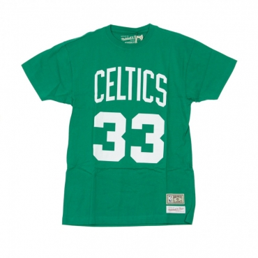 MAGLIETTA NAME  NUMBER TRADITIONAL TEE NO33 LARRY BIRD BOSCEL ORIGINAL TEAM COLORS
