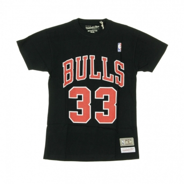 MAGLIETTA NAME  NUMBER TRADITIONAL TEE NO33 SCOTTIE PIPPEN CHIBUL ORIGINAL TEAM COLORS
